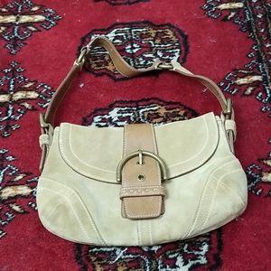 Vintage Coach Soho hobo suede mini bag